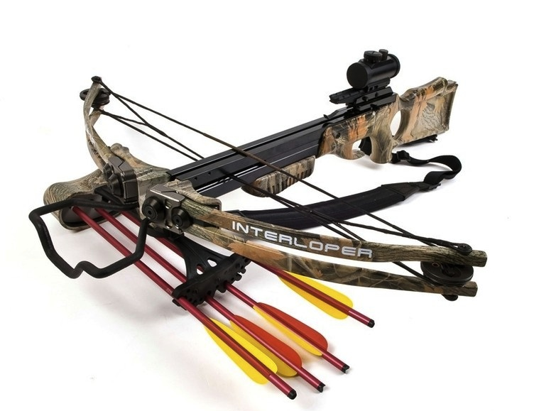 "One of the most technologically advanced compound crossbows. It stands out for its moderate width  but impressive length and weight of 4.4 kg, so men are more likely to choose this model. ""Archon"" shoots 50 cm long bolts at 115 meters per second! Despite such penetrative impact power, this crossbow has low kickback – stable enough for a child to handle it. For long distance accuracy, the ""Archon""model is equipped with a telescopic sight that excels competition."