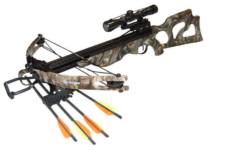 "This is a heavy construction crossbow for men with a size that accommodates the half-meter long bolts fired from this juggernaut. It shoots in a similar way as ""Archon"". In fact, Leopard is an improved Russian variation of a top selling Taiwanese ""Lighting"" crossbow, which indicates highest quality, the convenience, and the penetrating power of this model. Easy to cock, the ""Leopard"" has advanced designing that promotes easy and extended duration firing.  This crossbow is equipped with a two-way fuse for left-handed and right-handed archers. Versatile and Powerful, the ""Leopard"" is a must for serious hunters."